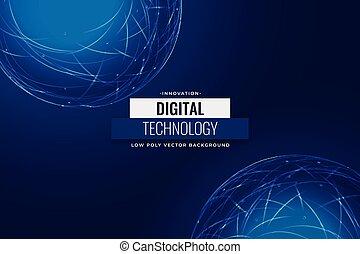 tło, technologia, sieć, cyfrowy, błękitny, projektować