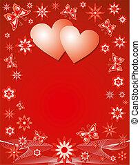 tło, wektor, illustration., valentine