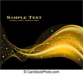 tło, złoty, wektor, abstrakcyjny