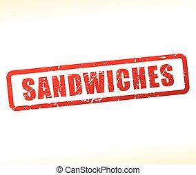 tłoczyć, biały, sandwicze, tło