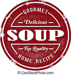 tłoczyć, rocznik wina, zupa