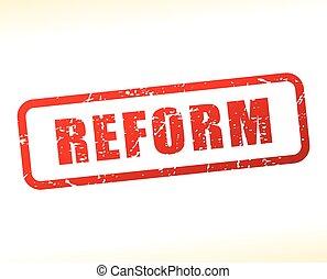tłoczyć, tekst, czerwony, reform