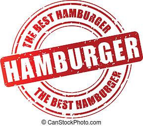 tłoczyć, wektor, hamburger