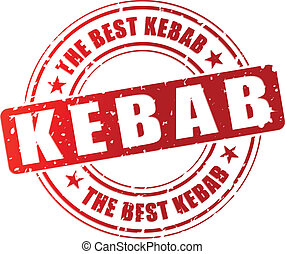 tłoczyć, wektor, kebab