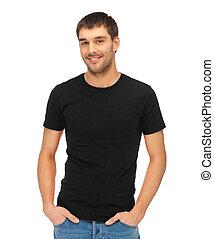 t-shirt, człowiek, czarnoskóry, czysty