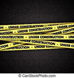 taśma, zbudowanie, metal, tło, pod