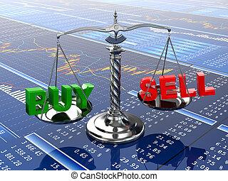 tabela, finansowy, concept., graph., targ, pień