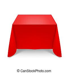 tablecloth, czerwony