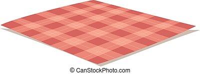tablecloth, illustration., wektor