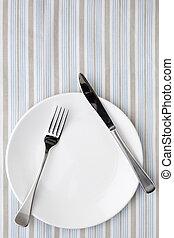 tablecloth, pasiasty, zmontowanie, miejsce