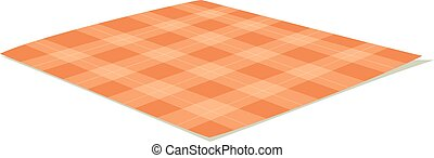 tablecloth, wektor, illustration.
