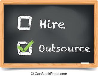 tablica, najem, outsource