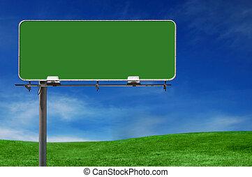 tablica ogłoszeń, autostrada, na wolnym powietrzu, reklama znaczą