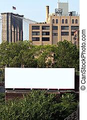 tablica ogłoszeń, miasto, ad, przestrzeń