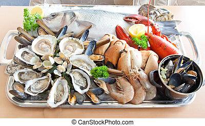 taca, produkty morza