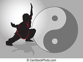 tai-chi., chińczyk