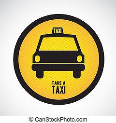 taksówka, ikona