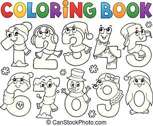 takty muzyczne, zima, komplet, kolorowanie, 1, książka