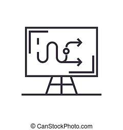 taktyka, linearny, handlowy znaczą, odizolowany, symbol, wektor, tło, ikona