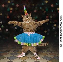 tancerz, 2, kot, balet, jednorożec
