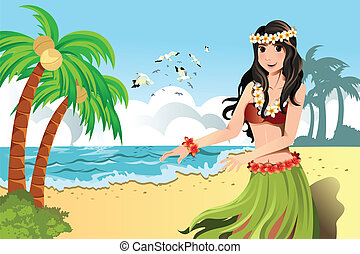 tancerz, hula, hawajczyk