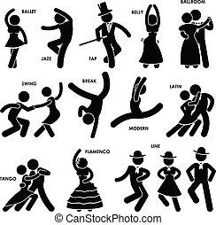 tancerz, taniec, piktogram
