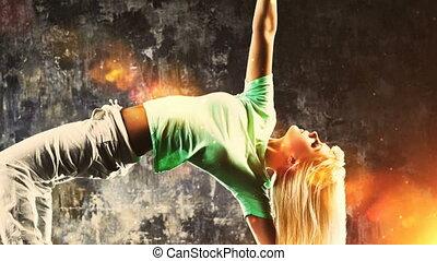 tancerze, nowoczesny, zacisk