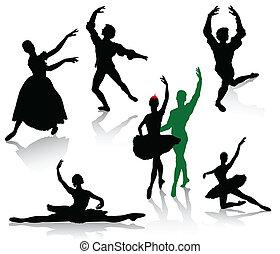 taniec, baleriny, sylwetka