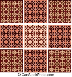 tapeta, seamless, kwiat, ornamentacja
