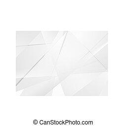 technologia, abstrakcyjny, szary, polygonal, tło, zbiorowy