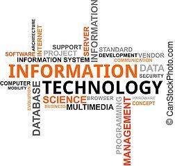 technologia, -, chmura, słowo, informacja