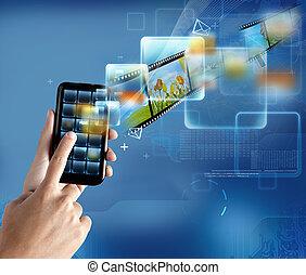 technologia, smartphone, nowoczesny