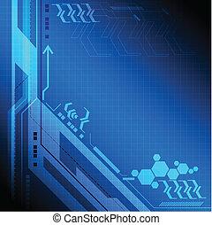 technologia, tło, cyfrowy