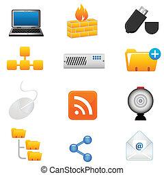 technoloy, komputerowe ikony