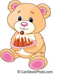 teddy, ciastko, niedźwiedź