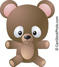 teddy, ilustracja, niedźwiedź