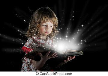 teen dziewczyna, czytanie, book.