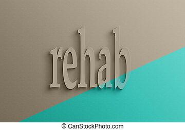 tekst, 3d, rehab
