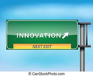 "tekst, ""innovation"", szosa znaczą"