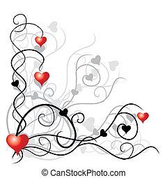 tekst, miejsce, twój, tło, valentine