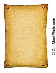 tekst, papier, starożytny stary, tło, woluta, texture., biały