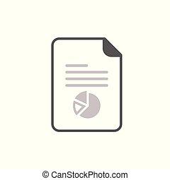 tekst, poznaczcie., wykres, symbol., rząd, zameldować, uważając, icon., dokument