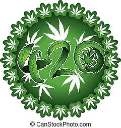 tekst, projektować, symboliczny, 420, marihuana