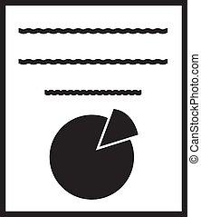 tekst, wykres, tło., rząd, zameldować, biały, dokument, icon.