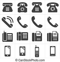 telefon, ikona, smartphon, klasyk