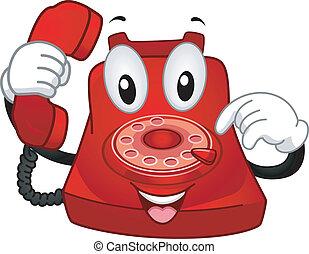 telefon, maskotka