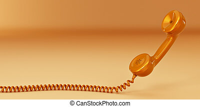telefon, reciever., 3d