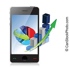 telefon, technologia, pojęcie, nowoczesna sprawa