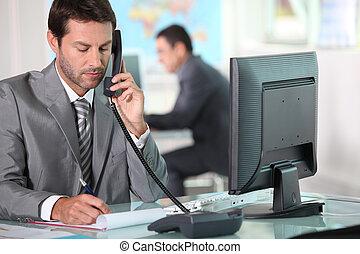 telefon, wykonawcze biuro