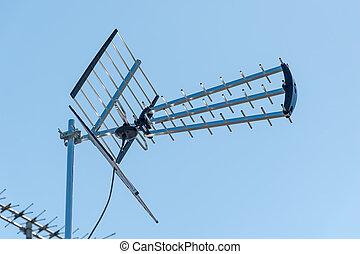 telewizja, na wolnym powietrzu, antena